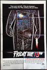 FRIDAY THE 13TH Original 1980 Horror Movie Poster 27x41 One Sheet