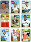 1969 TOPPS NEAR SET LOT 497 664 W MANTLE CK LIST,MAYS, AARON, CLEMENTE VG EX-EX+