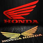 Fuel Gas Tank Fender Side Decal Reflective Wing Logo Vinyl Sticker for Honda Red