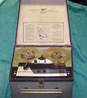 Telectro Model SR122 Stereophonic Tape Recorder Reel To Reel With Mic 1960's