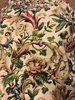 Pageantry Grandeaur Waverly Decorator Fabric Cream Red Green 7 Yards Floral Rose