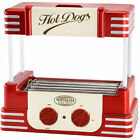 Hot Dog Roller Cooker, Electric, Variable Temperature Control, Red, 10x17x11