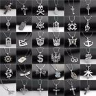 Men Dragon Cross Pendant Necklace Stainless Steel Dangle Chain Link 20Jewelry
