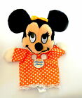 Walt Disney Prod Minnie Mouse Hand Puppet Calif Stuffed Toys 12.5 in w Hangtag