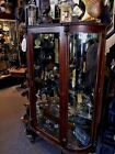 Antique Gothic Victorian Lion Head Display Cabinet c. 1800's