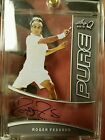 2015 Leaf Q Roger Federer Silver Pure Glass Auto Autograph On Card