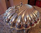 1940-50's ETON SILVER Silverplate CLAM SHELL/FISH 3 Foot ELECTRIC WARMING Server
