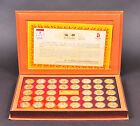 2008 Beijing Gold Olympic Coins Set of 38 in box Gold Plated Coins