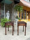 Fantastic Amercian Chippendale Pembroke Tables In Mahogany 20th century.