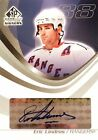 03-04 ud sp game used signers eric lindros new york rangers autograph auto