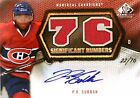 10-11 sp significant numbers p.k. subban canadiens jersey autograph auto 22 76