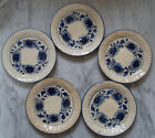 Set of Five Vintage Hand Painted Japanese Pottery Plates Saucers 6