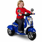 Retro Ride on Scooter 3-Wheel 6-Volt Battery-Powered Kids Toy
