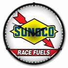 Vintage Style Sunoco Race Fuels LED Lighted Backlit Advertising Clock - NEW