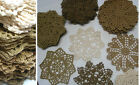 lot of 16 Hand Crochet 6 Doilies Coasters Beige VTG Wedding Tea Party Craft