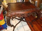 vintage antique TABLE 1920s Louis XVI style CARVED table  Beautiful As-IS top