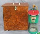 Vintage Propane Lantern Bernzomatic Dual Beam TX750 Custom Wood Carrying Case