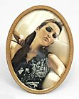 French Victorian Style Oval Gilt Brass Easel Picture Frame