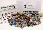 Rock  Mineral Collection Activity Kit Over 150 Pcs with Educational Identi