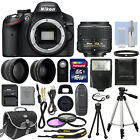 Nikon D3200 Digital SLR Camera Body + 3 Lens Kit 18 55mm VR Lens + 16GB Bundle