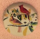 VINTAGE GLASS PAPERWEIGHT CARDINALS RED BIRDS