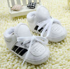 Toddler Baby Boy White Sneakers Soft Sole Crib Shoes Size 0 6 6 12 12 18 Months