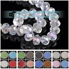 Wholesale 3 8mm Glass Crystal Rondelle Faceted Loose Spacer Beads Jewelry Making