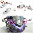 2Pcs Universal Motorcycle CNC Aluminum Rearview Mirror w/Fairing Adapters Holder