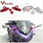 1 Pair Aluminum Rear Mirror w/Fairing Adapters Mount Rearview Holder Street Bike
