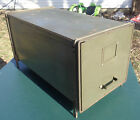 Vintage Metal Industrial Steampunk Stackable File Cabinet Military?