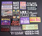 Funny Sassy Sarcastic  Naughty Adult Topic Sticker Set from Late 1990s 2000s