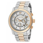 NEW Michael Kors MK8176 Runway Two Tone Chronograph Silver Dial Watch Unisex NWT