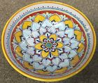 Deruta Pottery 10inch Bowl Geometric Pattern made painted byhand Italy