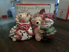 Fitz and Floyd Holiday Elf Salt and Pepper Shakers