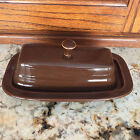Fiesta CHOCOLATE   Covered Butter Dish RETIRED COLOR  ***USED***
