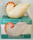 FITZ & FLOYD Seaboard Collection SHELL WINE CADDY/SALAD SERVER