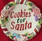 FITZ AND FLOYD CANDY CHRISTMAS COOKIE PLATE Unused Org Tags