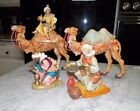 VINTAGE FONTANINI BY ROMAN FOUR PIECE SET CAMEL WITH KING 2 KNEELING KINGS