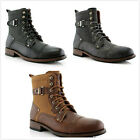 Brand New Mens Buckle Strap Lace up Casual Dress Ankle High Boots Shoes