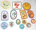 14 Vintage 1980s Girl Scout Patches  Badges Cookie Safari World Friendship +