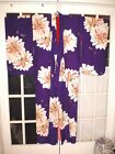 Stunning Vintage Japanese Silk Kimono in Purple w/Large Flowers-BEAUTIFUL!!