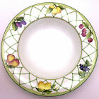 Fine China Mikasa Fruit Rapture Large Rim Soup Bowl Microwave Safe Optima Lemon