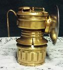 Guys Dropper Vintage Brass Coal Miners Lantern Carbide Lamp Mining Hard Hat