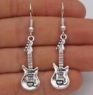 925 Silver Plated Hook 19 Punk Guitar Musical Instrument Club Earrings61
