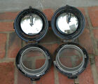 A PAIR OF ANTIQUE CARBIDE HEAD LAMPS IN DECENT CONDITION