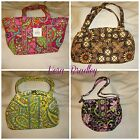 Vera Bradley lot of 4 Shoulder Purses various patterns including PINK SWIRLS