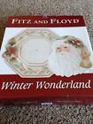 Fitz and Floyd Winter Wonderland Christmas plate and server set