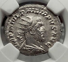 PHLIP I the ARAB 247AD Annona Ancient Silver Roman Coin NGC Certified MS i58168
