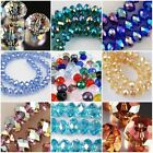 New Multicolor Austria Faceted Crystal Gemstone Loose Beads 4x6mm 6x8mm