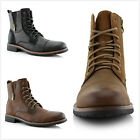 Brand New Mens Lace Up Cap Toe Side Zipper Military Combat Work Ankle Boots